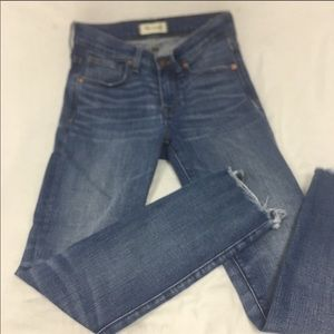 """Madewell 9"""" High Rise Crop Jeans"""